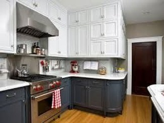 Unique Painted Kitchen Cabinets Design Ideas With Two Tone 31