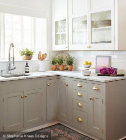 Unique Painted Kitchen Cabinets Design Ideas With Two Tone 43