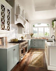 Unique Painted Kitchen Cabinets Design Ideas With Two Tone 44