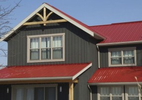 Astonishing Exterior Paint Colors Ideas For House With Brown Roof 16