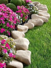 Attractive Border Garden Ideas To Your Landscaping Edging 11