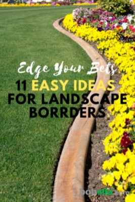 Attractive Border Garden Ideas To Your Landscaping Edging 15