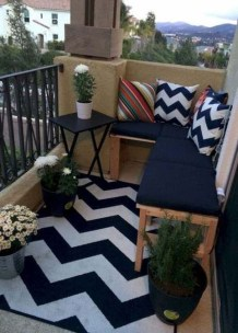 Cool Apartment Balcony Design Ideas For Small Space 26