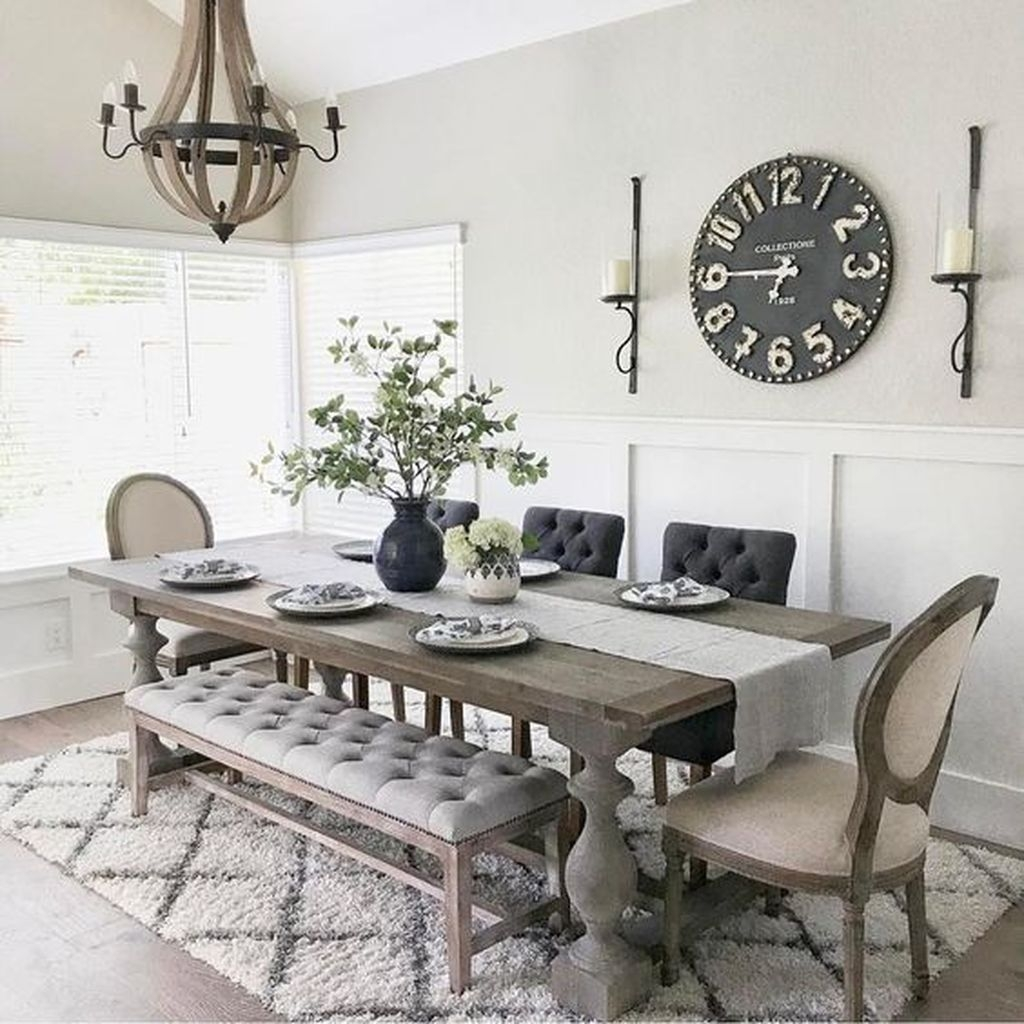 Relaxing Farmhouse Dining Room Design Ideas To Try 13