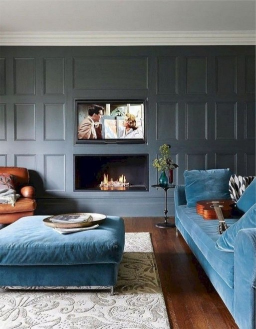 Superb Warm Family Room Design Ideas For This Winter 15