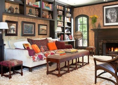 Superb Warm Family Room Design Ideas For This Winter 29