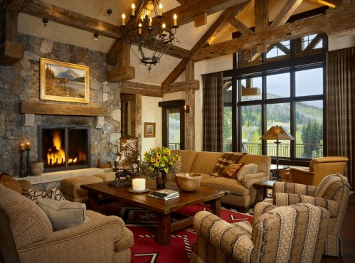 Superb Warm Family Room Design Ideas For This Winter 34