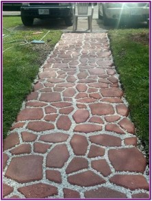 Unordinary Diy Pavement Molds Ideas For Garden Pathway To Try 01