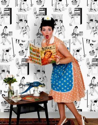 Awesome Retro Wallpaper Decor Ideas To Try 51