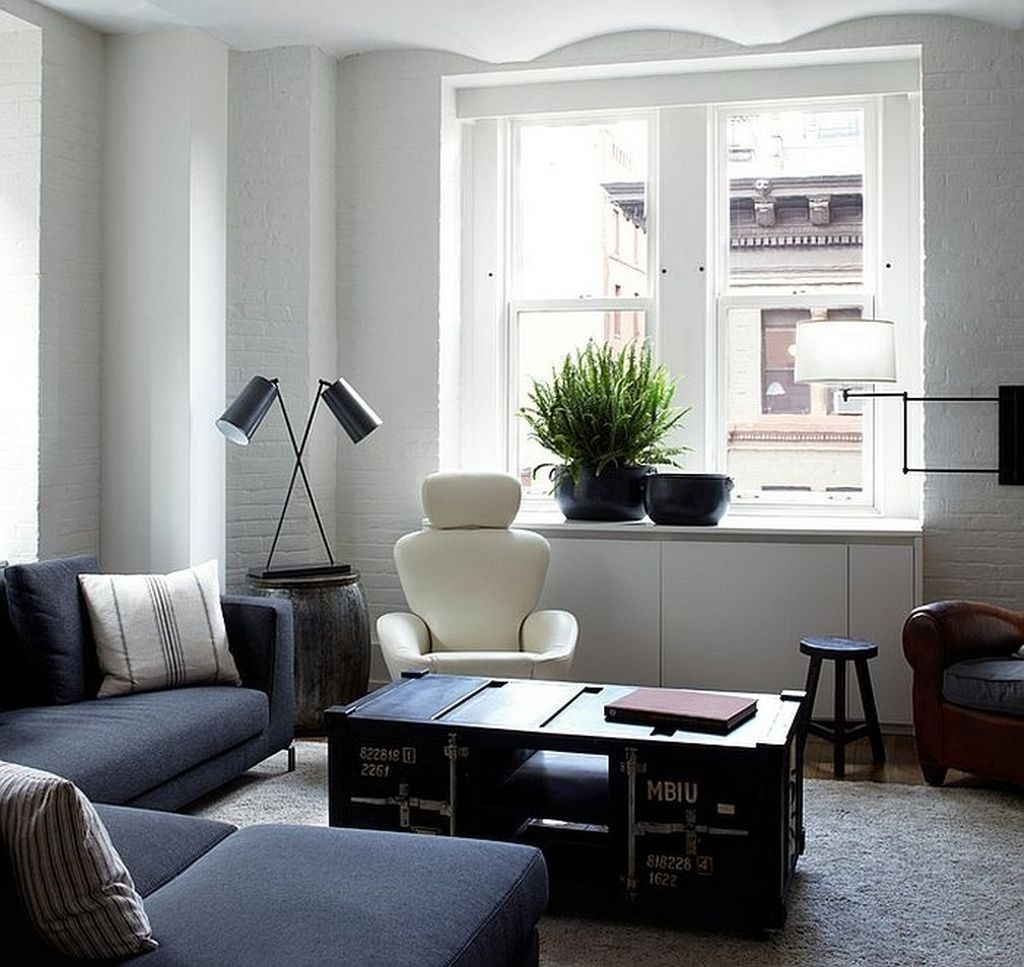 Cozy Masculine Living Room Design Ideas To Try 06