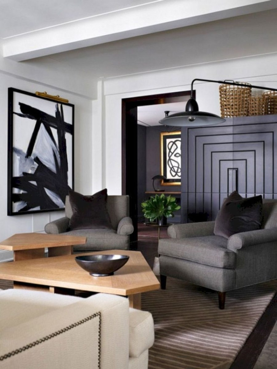 Cozy Masculine Living Room Design Ideas To Try 25
