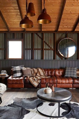 Cozy Masculine Living Room Design Ideas To Try 47