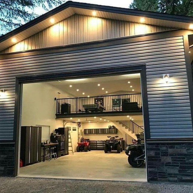 Graceful Car Garage Design Ideas For Your Home 19