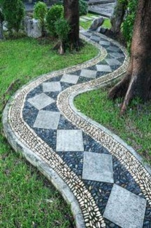 Popular Garden Path And Walkway Ideas To Your Outdoor Space 47