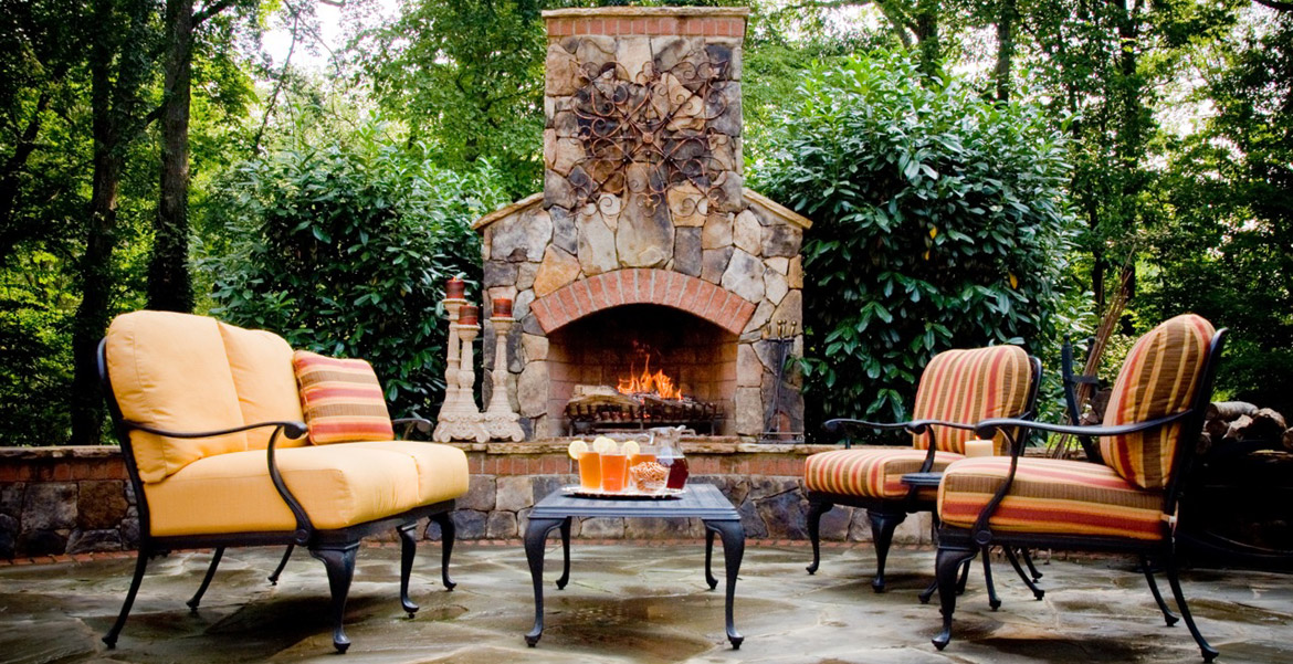 Outdoor Fireplaces Charlotte | Fireplace Design | Coogans ... on Outdoor Fireplaces Ideas  id=88604