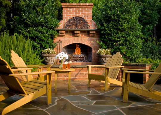 Outdoor Fireplaces Charlotte | Fireplace Design | Coogans ... on Simple Outdoor Brick Fireplace id=41212