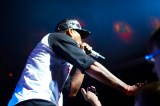 Method Man getting up close to the crowd.