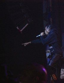 Travi$ Scott performing at House of Blues on 3/23 (Photo by Rupal Mehta)