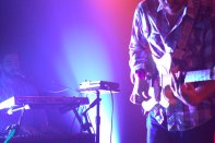 Toro Y Moi guitarist and keyboardist performing at Fitzgerald's