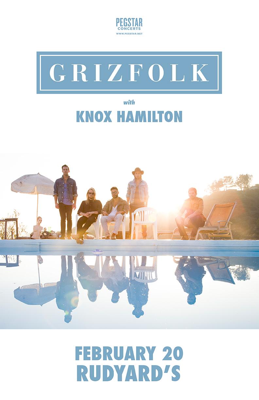 Knox Hamilton Supports Grizfolk at Rudyard's British Pub on Feburary 20!