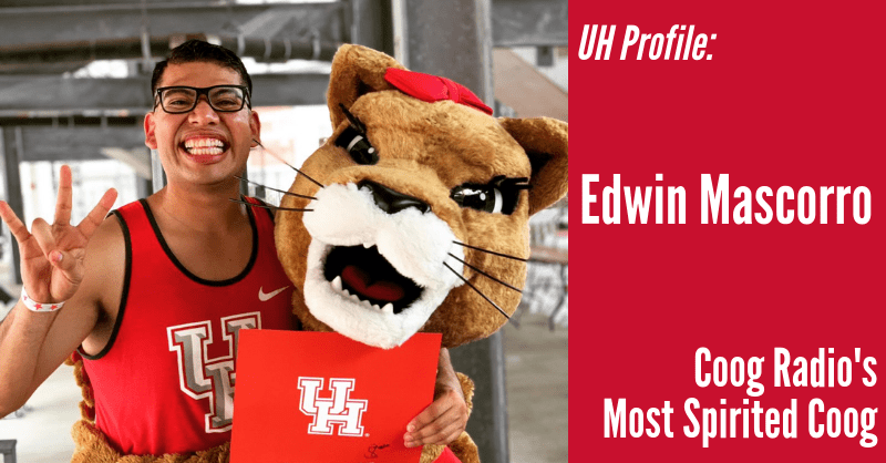"UH Profile: Edwin Mascorro, Coog Radio's ""Most Spirited Coog"" Winner"