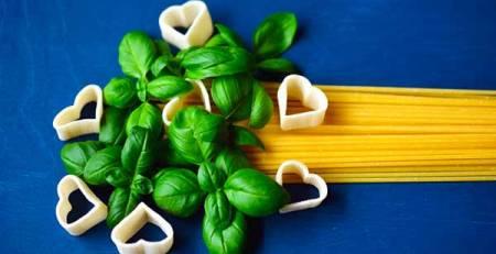 spaghetti pasta basilico cuore