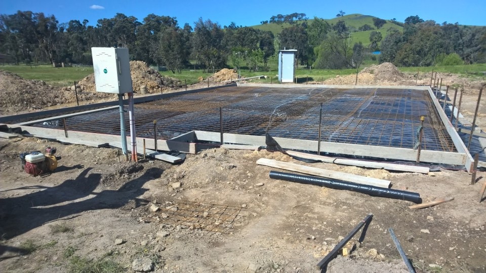 All ready for the pour