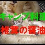 ソロキャンプ料理! 椎茸の醤油焼き編