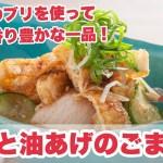 【料理動画】『ブリと油あげのごま和え』プロが教えるレシピ
