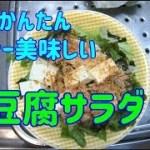 【かんたん料理】 豆腐サラダを作る単身赴任男 【鰹節たっぷり】