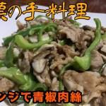 【一人暮らしの料理】レンジでチン!チンジャオロース!【簡単レシピ】