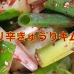 【簡単に作れる家庭料理】ピリ辛きゅうりキムチ