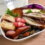 海苔弁当【お弁当作り】ちくわチーズ磯辺揚げ 白身魚フライ 鮭と大葉の卵焼き