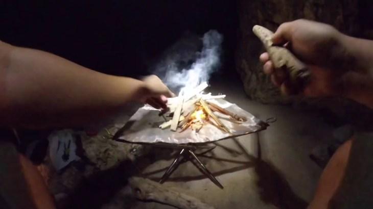 ガチ▲キャン キャンプ初心者が流木のみでキャンプ料理をやってみた