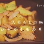 一人暮らし男子の帰宅後の日常vlog、ジャガイモのサブジを作ってみた。(ナイトルーティン)
