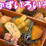 【お弁当】唐揚げ かぼちゃの煮物 じゃがいもガーリック 卵焼き ウインナー ゴーヤの佃煮【Obento】