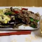 【男の料理】豚肉とナスと万願寺とうがらしの赤みそ炒め!チャーハン
