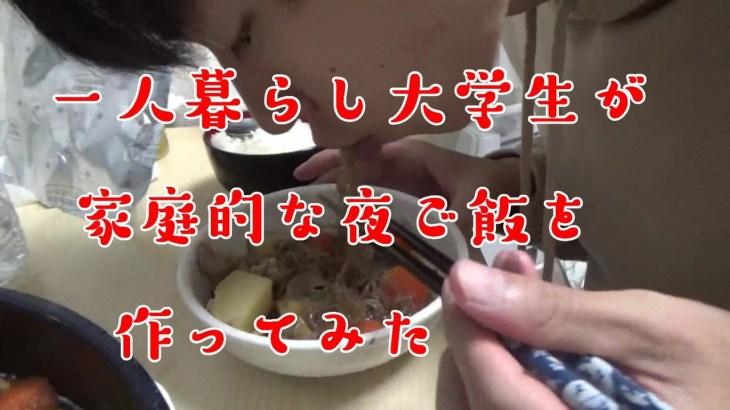 【肉じゃが】一人暮らし大学生が質素な和食を作って食べる【料理Vlog】