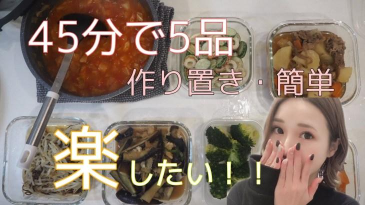 【作り置き】簡単料理レシピ5品45分【おかず常備菜】
