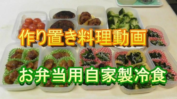 【料理動画】【作り置き】お弁当用の自家製冷食を中心に作り置きおかずを作る動画