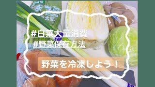 [野菜保存]野菜を切って入れるだけ!料理は簡単に済ましちゃおう!