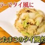 【簡単料理】白菜とたまごのタイ風炒め ナンプラーでタイ風に