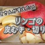 【初心者向け】りんごの皮むき・切り方/料理のプロが上達するコツや可愛いウサギの作り方を教えます