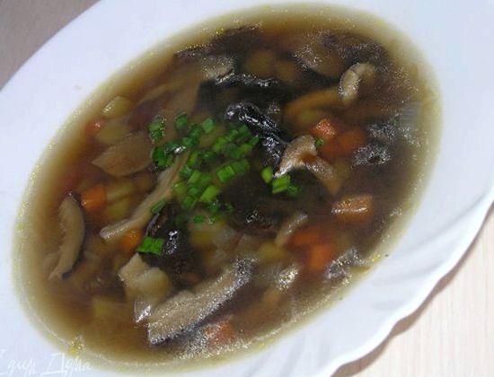 Суп из сушеных грибов рецепт с фото пошагово