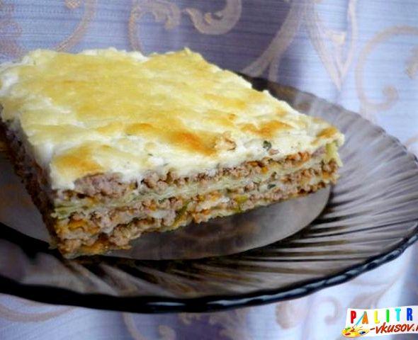 Лазанья с фаршем из лаваша рецепт с фото
