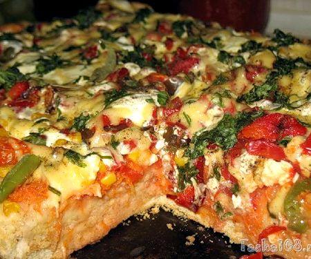 Домашняя пицца рецепт с фото пошагово в духовке
