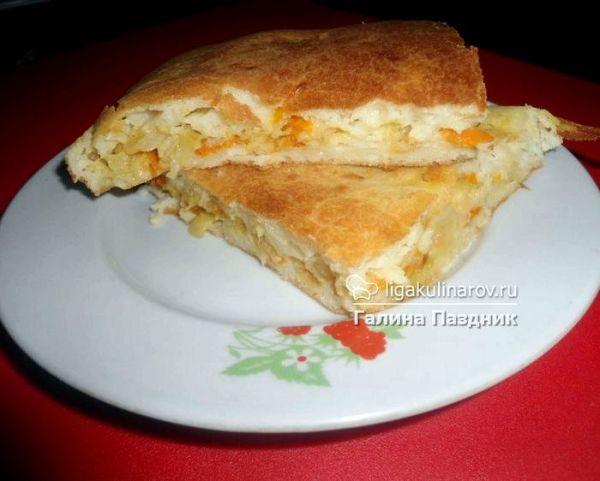 Пирог на кефире с капустой рецепт с фото пошагово в духовке