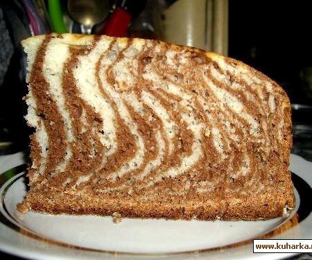 Торт зебра на кефире пошаговый рецепт с фото