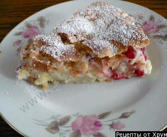 Вкусная шарлотка с яблоками на кефире рецепт с фото