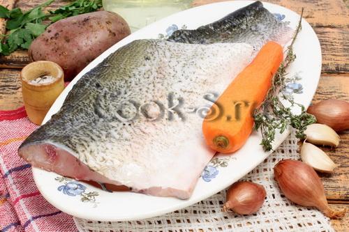 Толстолобик с картошкой запеченный в духовке Пошаговый